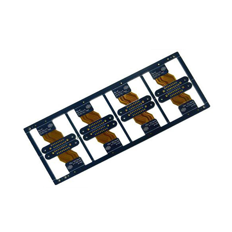 8 layers Rigid flex PCB FR4(Tg170)+PI Material ENIG finish