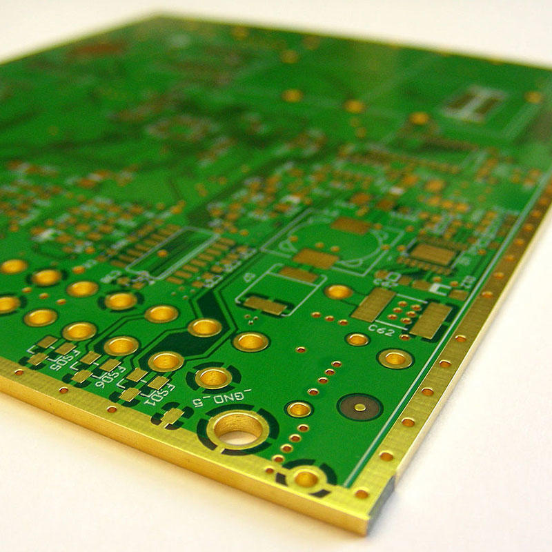 4 Layers PCB Edge Plating Side-plating FR4(Tg170) Material Immersion Gold