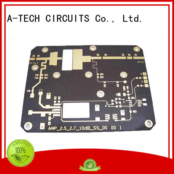 A-TECH aluminum microwave rf pcb double sided for wholesale