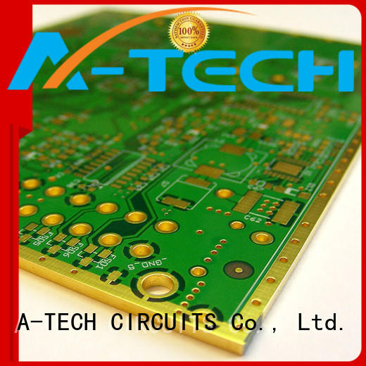 A-TECH routing castellated holes pcb plated for wholesale