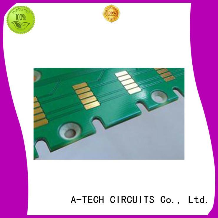 half depth pcb edge plating process counter sink top supplier A-TECH