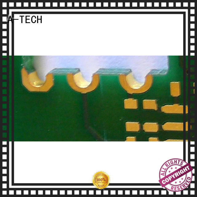 A-TECH routing edge plating pcb castellation for sale