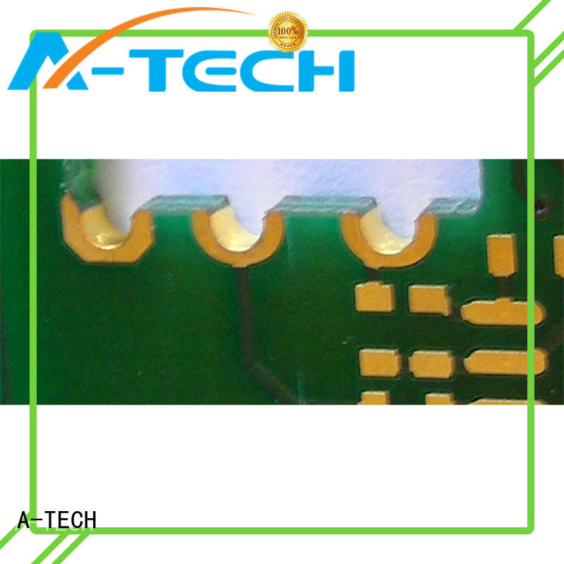 Plated half hole PCB