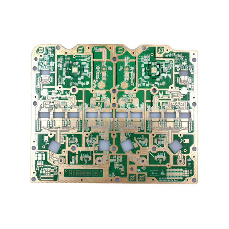 Multilayer Hybrid PCB Rogers 4350B  FR4 Immersion Gold