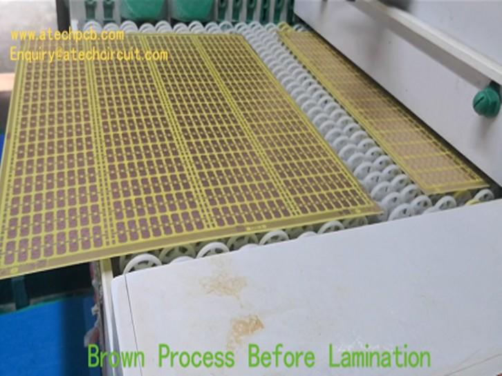 Brown process for multilayer PCB manufacturing