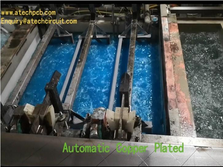 Automatic copper plated(PTH) - PCB fabrication process