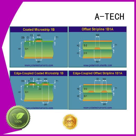 fit hole edge plating pcb half depth top supplier A-TECH