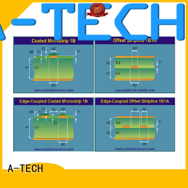 A-TECH blind edge plating pcb durable at discount